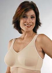 Classique Full Figure Cotton Knit Pocket (Mastectomy) Bra (40F)