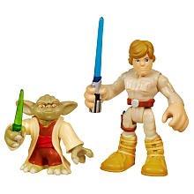 Star Wars 2011 Playskool Jedi Force Mini Figure 2Pack Yoda Luke Skywalker