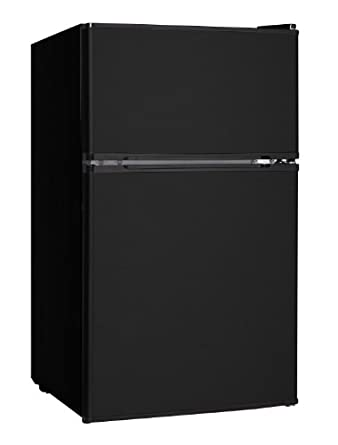 Midea HD-113F Full-Size Double Reversible Door Refrigerator and Freezer, 3.1 Cubic Feet, Black