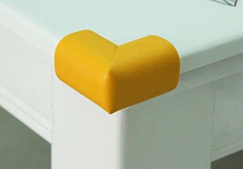 zhou-Die-Kinderecke-bewachen-verdickte-weiches-Baby-Couchtisch-Tisch-Ecke-Baby-Bump-Beweis-Umwelt-ungiftig-10-Stk-yellow