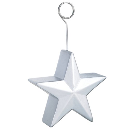 Star Photo/Balloon Holder (silver) Party Accessory  (1 count)