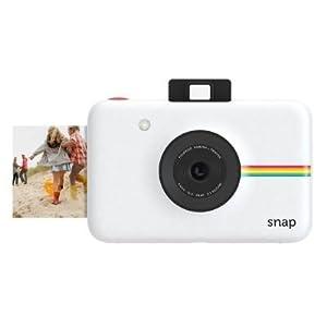 Polaroid Cámara digital instantánea Snap (blanco) con la tecnología de impresión ZINK Zero Ink