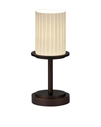 Justice Design Group Dakota 1-Light Table Lamp, Dark Bronze