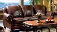 Princeton 100 % Top Grain Leather Sofa In A Tri-Tone Finish front-894990