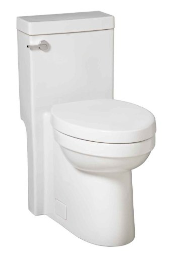 Porcher 96010-28.001 Solutions One-Piece Compact Elongated High-Efficiency Water Closet with Slow Close Seat, White