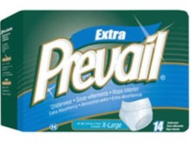 Prevail Underwear, Extra Absorbency, X-Large, Case/56 (4/14s) by First Quality