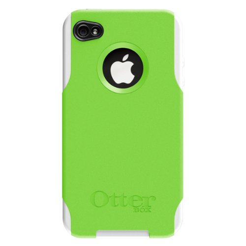 OtterBox Commuter Series Hybrid Case for AT&T and Verizon iPhone 4 (Green/White) (Doesn\'t support iPhone 4S)