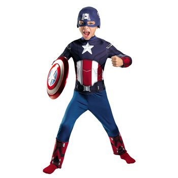 Avengers Captain America Classic Costume, Red/White/Blue, Small Picture