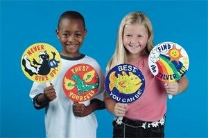Upbeat Message Fans (Pk/12) - Buy Upbeat Message Fans (Pk/12) - Purchase Upbeat Message Fans (Pk/12) (S&S Worldwide, Toys & Games,Categories,Arts & Crafts,Craft Kits)