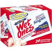Wet Ones Antibacterial Hand Wipes Singles - 24 Ct front-952465