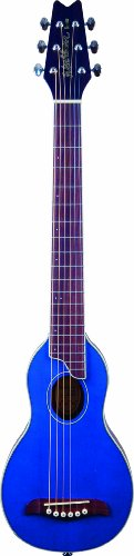 Washburn Rover TBL Travel Acoustic Guitar - Transparent Blue