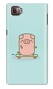 The Fappy Store Skateboard-Piggy Plastic Back Cover for Lenovo K920