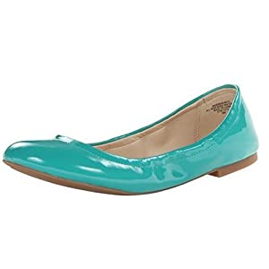 Nine West Women's Andhearts Patent Ballet Flat,Blue,10 M US