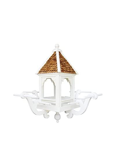 Home Bazaar The Windamere Hanging Feeder, White