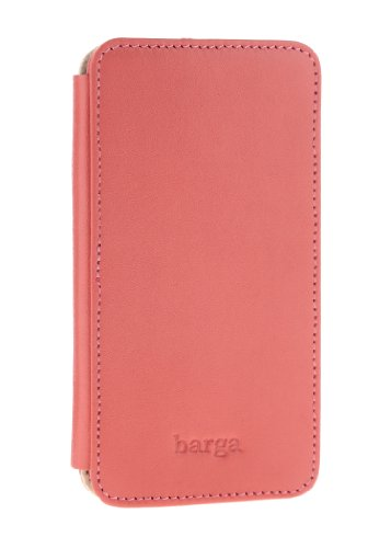 Best Price Barga Cases Genuine Leather Wallet Case for Iphone 5 / 5S , Soft - Pink