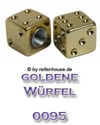 Ventilkappen Würfel Gold 2er Set (Nr. 0095)