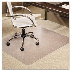 Es Robbins Everlife Anchor Bar Rectangle Chair Mat For Low Pile Carpet, 46 By 60-Inch, Clear front-223486