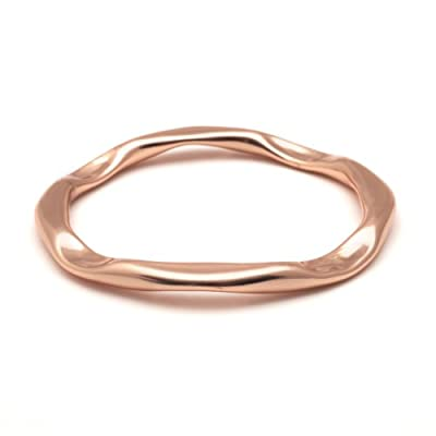 Rose Gold Wave Bracelet by Sibilia