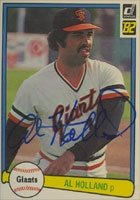Al Holland San Francisco Giants 1982 Donruss Autographed Hand Signed Trading Card. by Hall of Fame Memorabilia