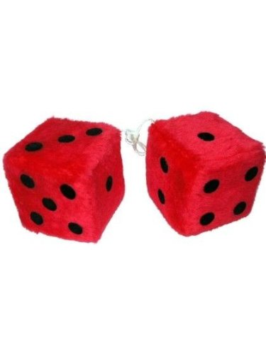 coche-sudzucker-fuzzy-dice-rojo-central