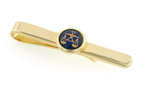 JJ Weston legal scales of justice or lawyer tie slide with presentation box. Made in the USA