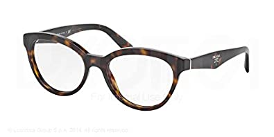 Amazon.com: Prada PR11RV Eyeglasses-2AU/1O1 Havana-50mm: Shoes
