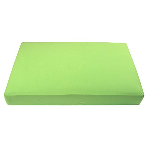 "My Blankee Organic Cotton Jersey Knit Crib Sheet -Lime Green 28""x52""x9"" drop"