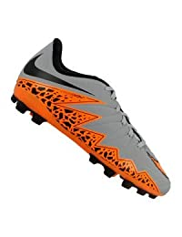 Nike Kid's Jr Hypervenom Phelon II AG, WOLF GREY/TOTAL ORANGE-BLACK-BLACK