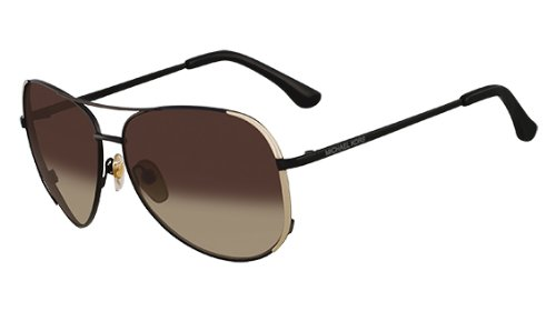 Michael Kors M2045S Sicily Aviator Sunglasses Black (001) Mk 2045 001