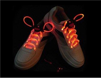 1 Pair New Led Flashing Shoe Platube Laces (Red)