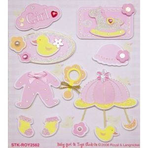 3D STIX BABY GIRL & TOYS Papercraft, Scrapbooking (Source Book)