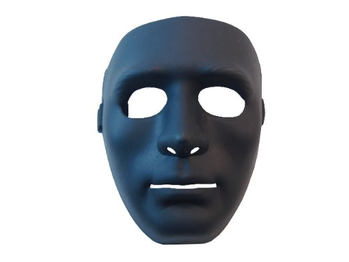 Full Face Airsoft Mask Black Biodegradable Hard