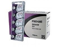 100 pcs Maxell SR44W SR44 357 V357 Silver Oxide Watch Battery