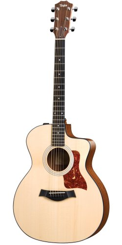 Taylor Guitars 114ce, Grand Auditorium, Solid Sitka Spruce Top, Sapele Back/Sides, Cutaway, ES-T