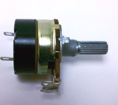 Potentiometer 24mm B50k 50k pot w/ 5A AC on/off Switch by Alpha Electronics