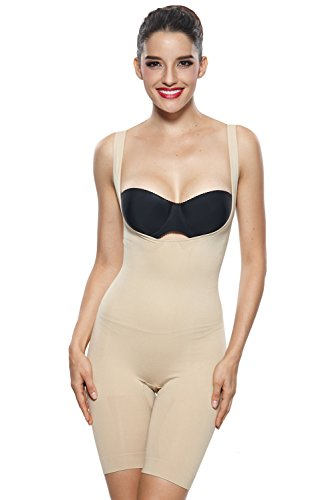 Khaya-Womens-Compression-Mid-Thigh-Wear-Your-Own-Bra-Shapewear