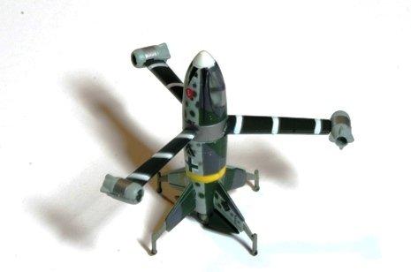 タカラ 奇想天外兵器 01  VTOLラムジェット戦闘機「フォッケウルフトリープフリューゲル」 ハインリッヒ・ハルトマン搭乗機 単品
