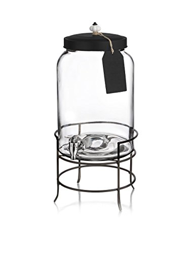 Style Setter Franklin Beverage Dispensers with Stand, Tag and Ceramic Knob, Clear (Drink Dispenser Tags compare prices)