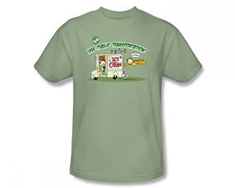 Garfield - - Public adulte T-shirt de transport dans le wasabi, XXX-Large, Wasabi