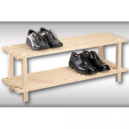 Porte chaussures en bois 2 niveaux cuisine for Porte chaussures