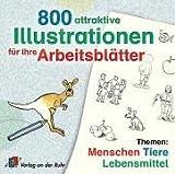 Software - 800 attraktive Illustrationen f�r Ihre Arbeitsbl�tter. CD-ROM ab Windos 95. Themen: Menschen, Tiere, Lebensmittel.  (Lernmaterialien)