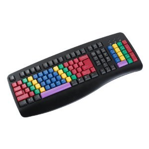 Chester Creek Technologies (Cct) Lessonboard Multi-Colored Keys With Black Usb Wired Computer Keyboard