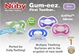 NUBY SOFTFLEX GUM-EEZ FIRST TEETHER 0m+ GIRLS PINK/LILAC BPA FREE