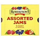 Robertsons Classic Assorted Jam Portions 100x20g 50xStrawberry, 25xRaspberry, 25xBlackcurrant