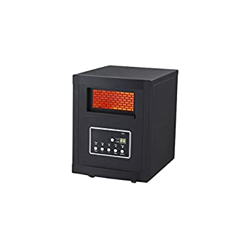 Global Air GD9315BC1 Large Room Infrared Quartz Heater with Remote Control