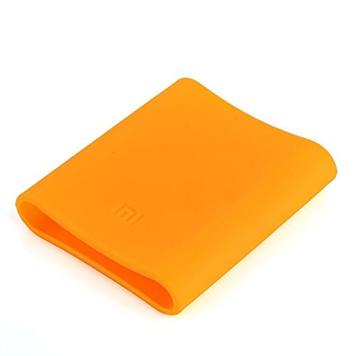 Heartly Soft Silicone Protector Case Cover for Xiaomi Mi 10400 mAh Universal Power Bank - Soft Orange