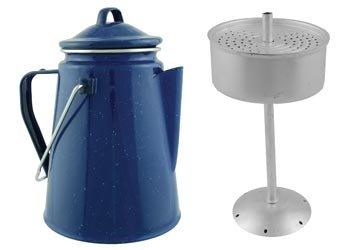 Camping Blue Enamel Coffee Pot  Perculation