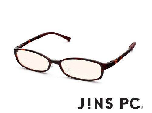 【JINS PC スクエア ハイコントラストレンズ Web限定カラー】PC(ディスプレイ)専用メガネ(度なし)