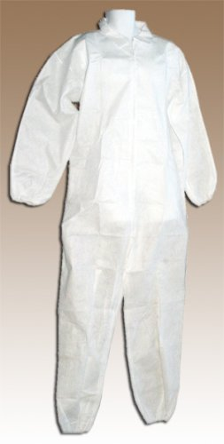 Disposable Economy White Polypropylene Coveralls, XL, 25-Pack WDC25
