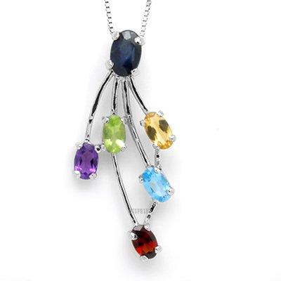 100-big-genuine-amethyst-peridot-garnet-citrine-sapphire-blue-topaz-925-silver-white-gold-plating-ne